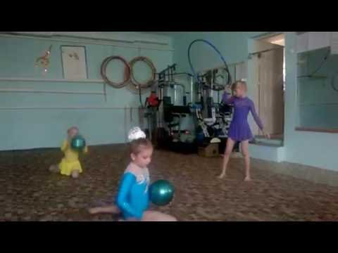 Новички фантазируют гимнастические упражнения!