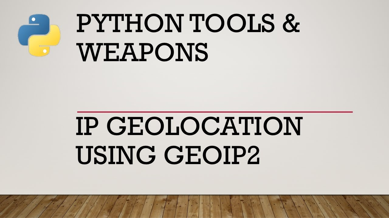 IP Geolocation with Python and geoip2