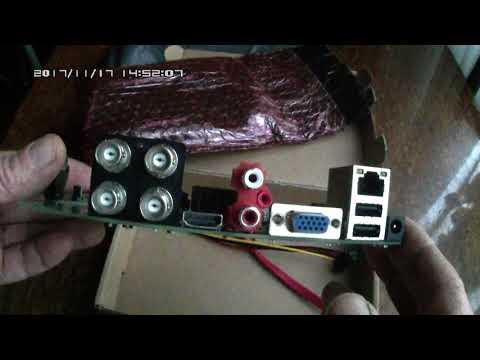 Гибридный AHD видеорегистратор для видеонаблюдения, без корпуса