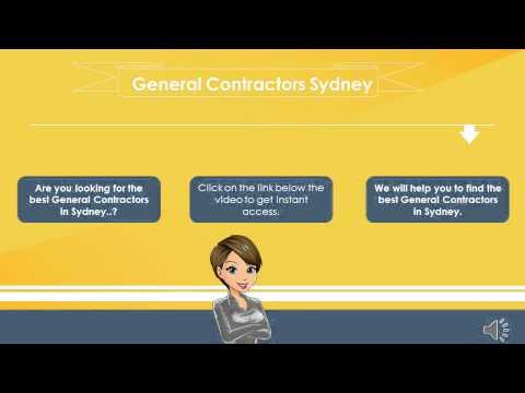 General Contractors Sydney