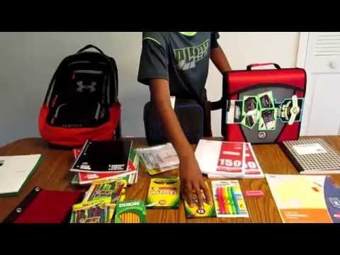 BACK TO SCHOOL HAUL 6TH GRADE SUPPLIES