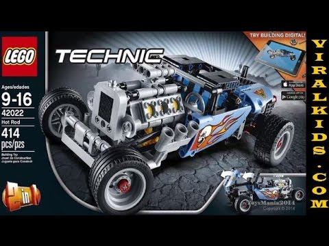 lego technic hot rod 42022 model kit toys review youtube. Black Bedroom Furniture Sets. Home Design Ideas
