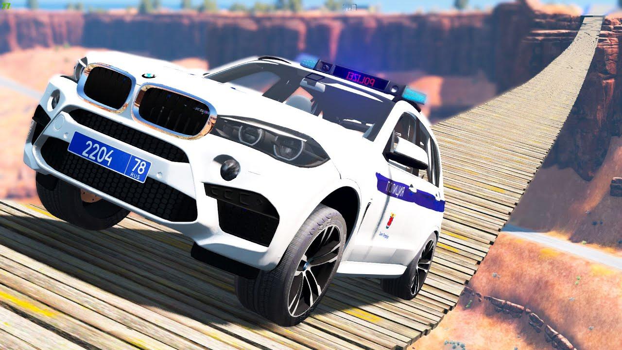 Cars vs Suspension Bridge - BeamNG Drive | CRASHdriven