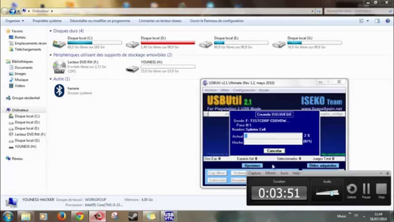 الحلقة 36 : طريقة تشغيل ألعاب ps2 عن طريق USB بواسطة برنامج