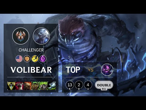 Volibear Top vs Kennen - NA Challenger Patch 10.18