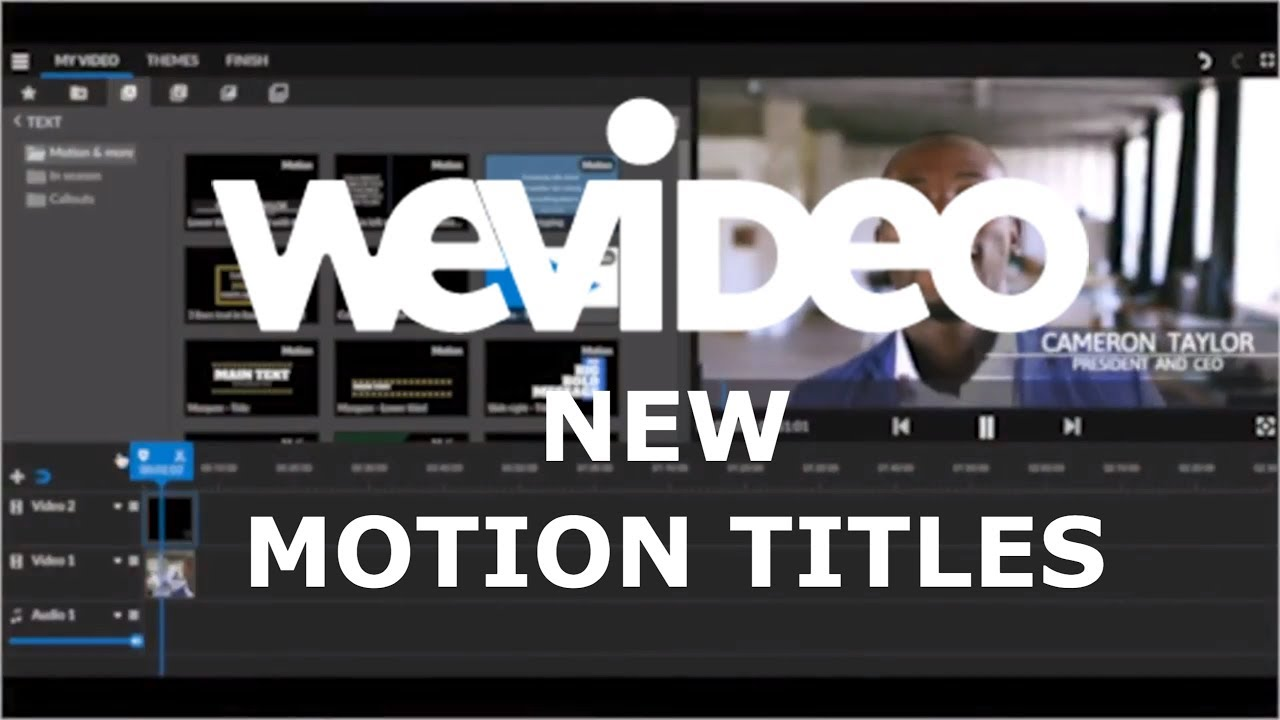Check Out Our New Motion Title Templates | WeVideo