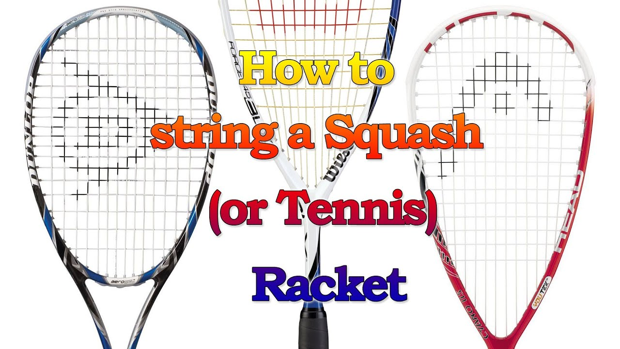 how to hold a squash racket
