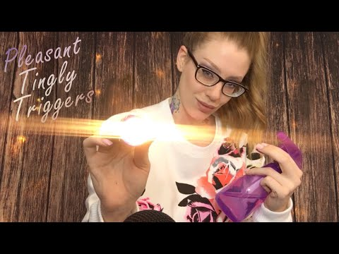 ASMR p l e a s i n g TINGLY TRIGGERS | Face Pressing, Eye Exam, Water Sounds