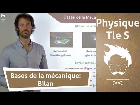 Physique Terminale S : Bases de la Mécanique - Le Bilan