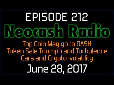Ep212: Top Coin May go to DASH, Token Sale Triumph and Turbulence, Cars and Crypto-volatility