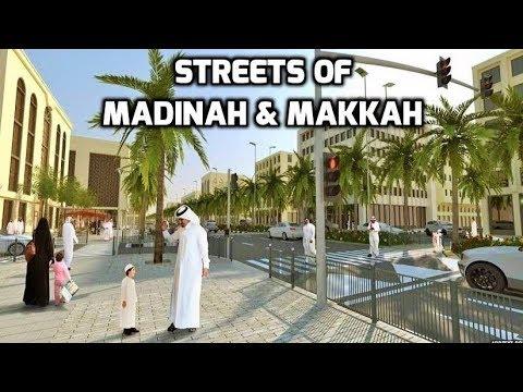 Umrah Hajj 2018 Walking in Makkah & Madinah Streets Saudi Arabia Travel