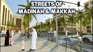 Umrah Hajj 2018 🕋 Walking in Makkah & Madinah Streets Saudi Arabia Travel
