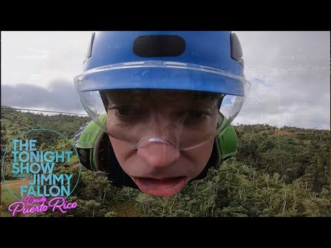 Lauren - Jimmy Freaks Out Riding Puerto Rico's Zip Line