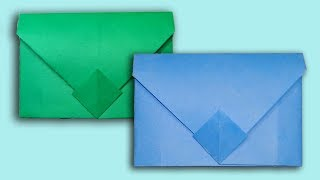 How To Make an Envelope ✉ Without Tape or Glue    Super Easy Origami Envelope