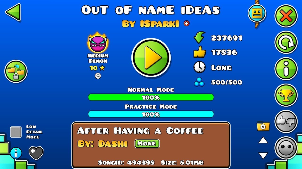Geometry Dash - OuT oF nAmE iDeAs