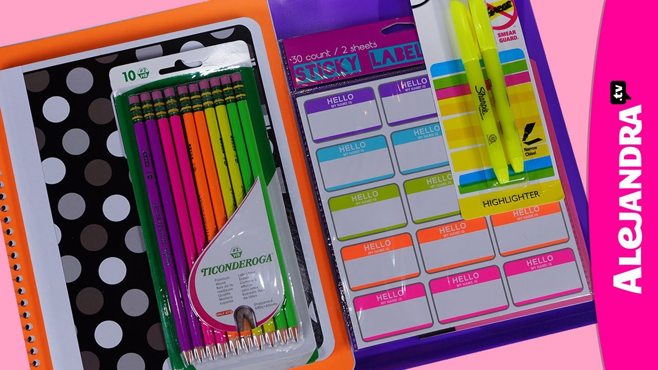 Back To School Supplies Haul 2013 14 Shopping At Target Part 3 Of