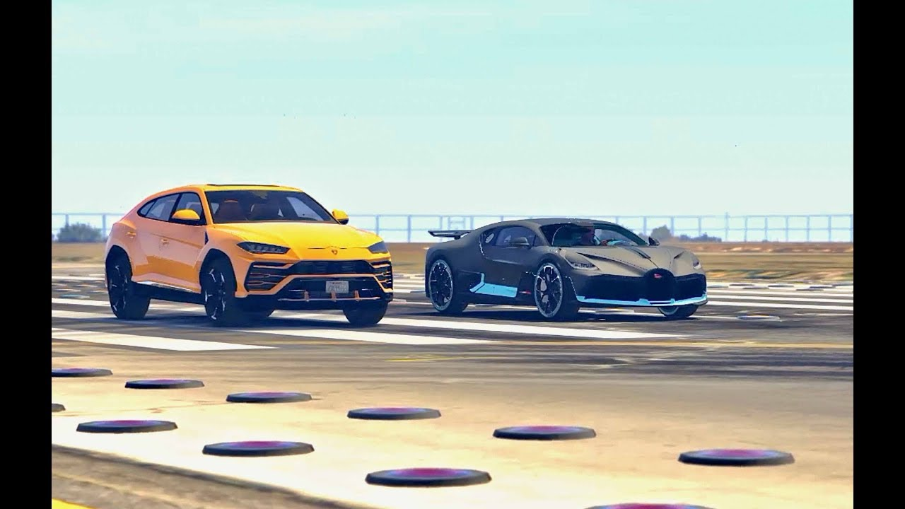 Bugatti Divo vs Lamborghini Urus - Drag Race - YouTube