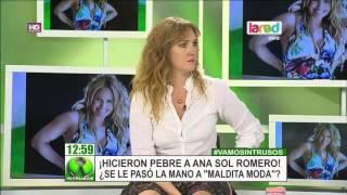 Ana Sol Romero fue duramente criticada en programa de moda de CHV