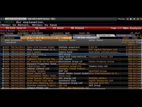 Bloomberg Training: Investment Banking M&A - www.fintute.com