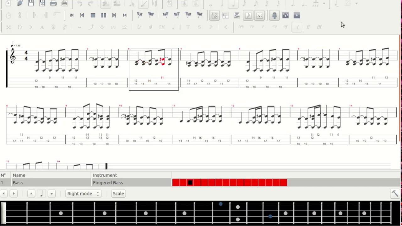 tablature tuxguitar ou guitar pro