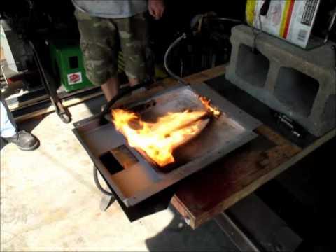 Engine Burning Oil >> First test firing of slot style oil burner for Mikado ...