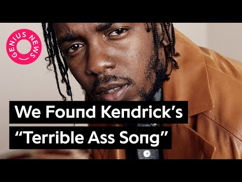 "Here's The ""Terrible Ass Song"" Kendrick Lamar Says He Once Made 