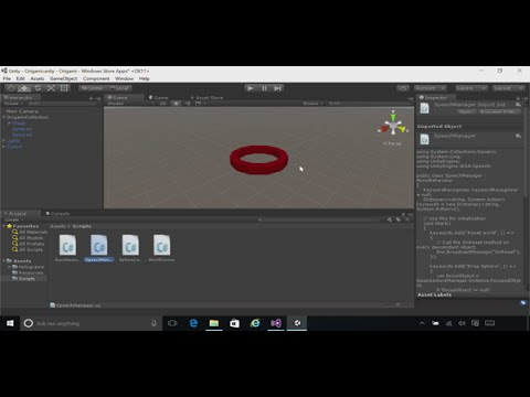 Microsoft HoloLens: Course 101D - Ch. 4 - Voice Input