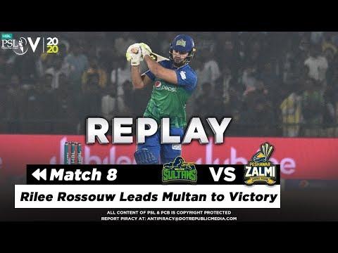 Rilee Rossouw Match Winning Batting | Multan Sultans vs Peshawar Zalmi | Match 8 | HBP PSL 2020