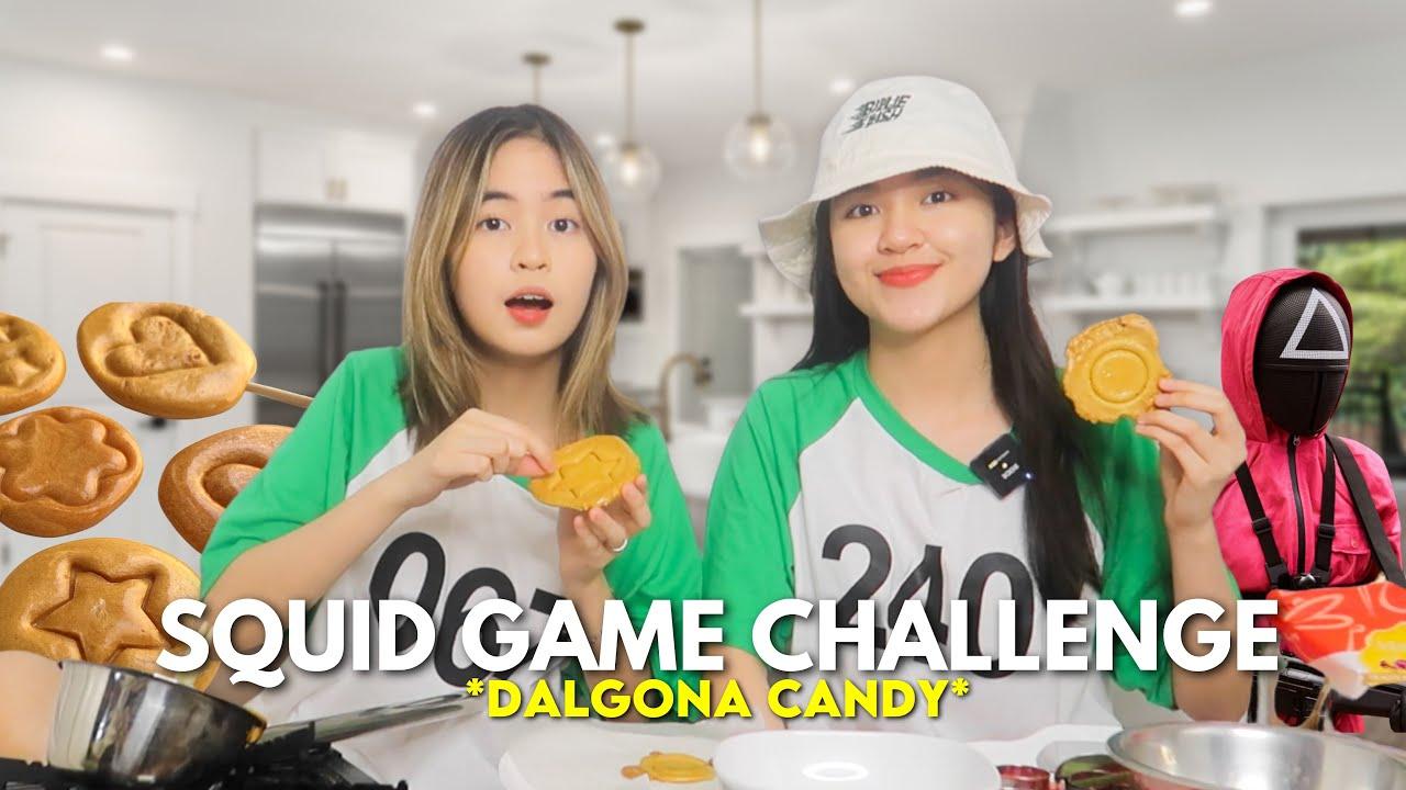 SQUID GAME Challenge (Dalgona Candy) 🦑👾 | Princess And Nicole