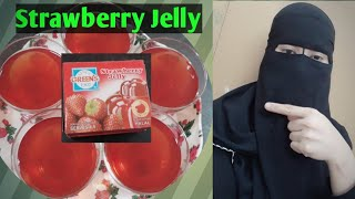 Arabic dessert: How to make simple strawberry jelly!
