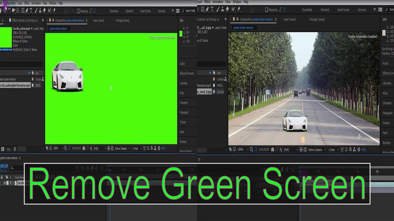 Download How to Remove Green Screen in Adobe After Effects CC 2018 New Tutorial