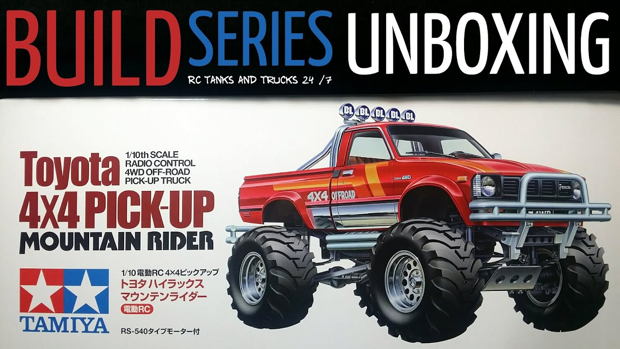 Tamiya toyota 4x4 pick up mountain rider unboxing first look youtube