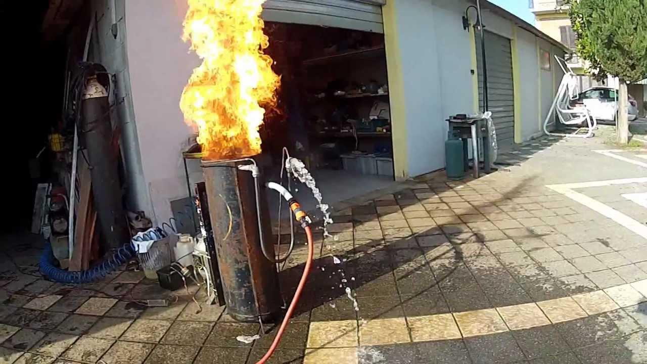 bruciatore olio vegetale gasolio youtube