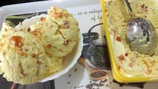 Butterscotch Ice-cream Recipe | Eggless Ice Cream | Without Ice-cream Machine | Homemade Ice-cream