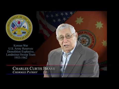 Cherokee Veteran Charles Curtis Brave