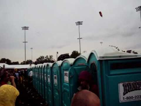 Kentucky Derby 2010 Porta Potty Racing in the infield