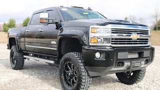 """2017 Chevy Silverado High Country 3500HD Crew Cab 4x4 6"""" Pro-Comp Lift Duramax for Sale"""