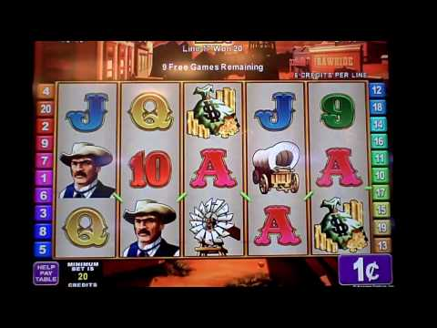 Rawhide a konami game slot machine bonus win