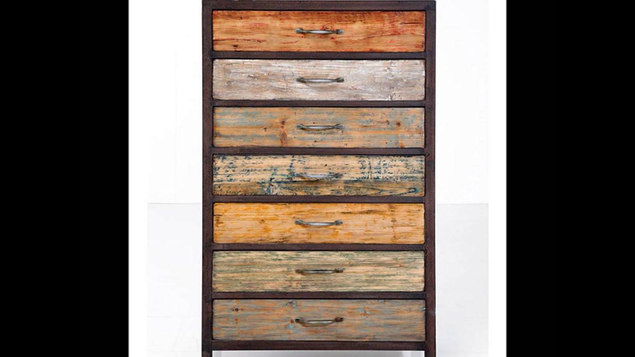 Muebles hechos con madera reciclada youtube for Puertas de material reciclado