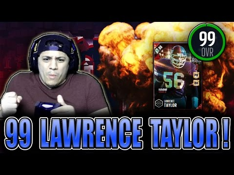 HES JUST WAY TOO DAMN FAST! (99 LAWRENCE TAYLOR GAMEPLAY) - MADDEN 17 ULTIMATE TEAM