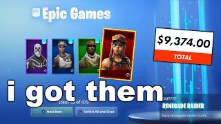 I Tried Merging wİth RICHEST BANNED Fortnite Accounts