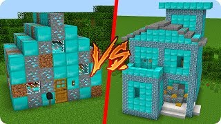 CASA DE DIAMANTE NOOB VS CASA DE DIAMANTE PRO EN MINECRAFT 😱