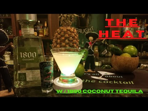 1800 COCONUT TEQUILA/THE HEAT cocktail/its all about the cocktail/home bartending/ home mixology