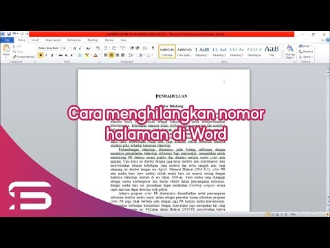 CARA CEPAT MENGHAPUS LEMBAR HALAMAN YANG TIDAK DIINGINKAN PADA WORD | VIDEO TUTORIAL..