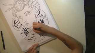 Speed Drawing / GEISHA - Wilfred Ch.