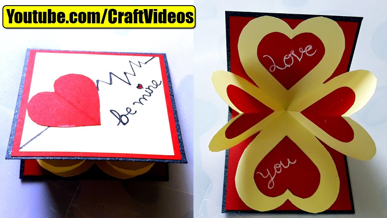 How to make pop up card I love you – Pop Up Valentines Day Card