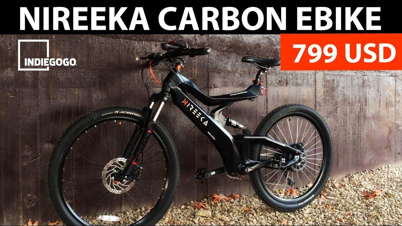 CARBON E-BIKE costs 799 USD for early buyers / NIREEKA 2018 EBIKE / ELECTRIC BIKE 2018