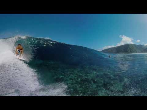 Michel Bourez 360 VR Surfing Video at Teahupo'o Tahiti