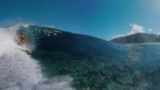 Michel Bourez 360 VR Surfing Video at Teahupo'o Tahiti thumbnail