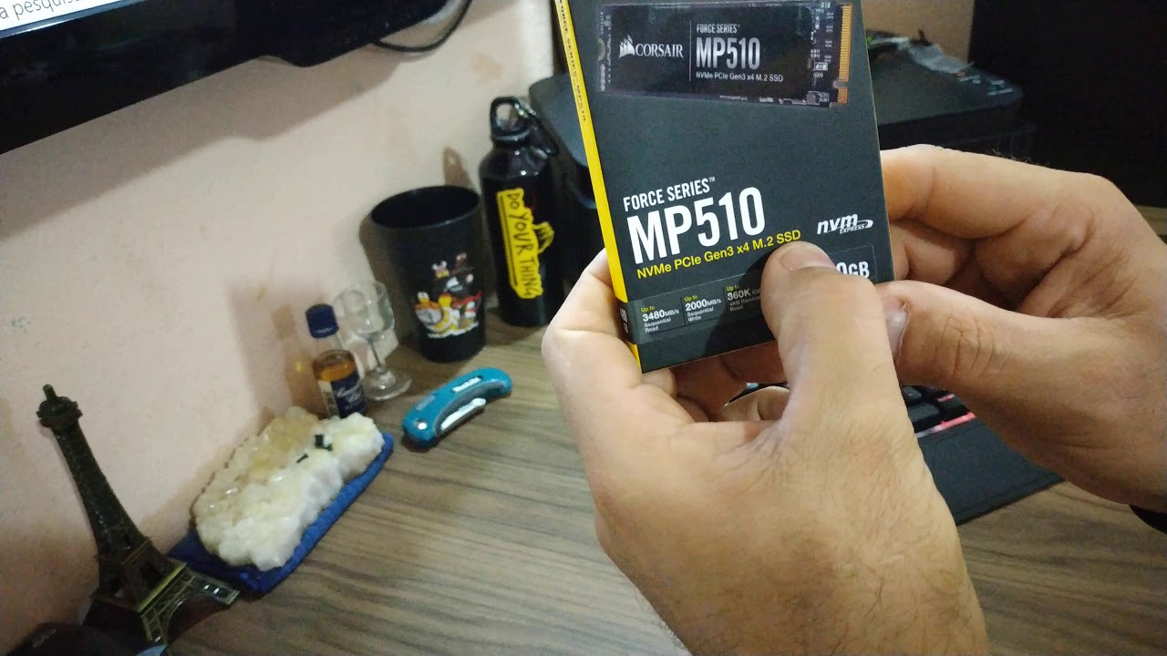 Umboxing do SSD NVMe PCle M.2 Force Séries MP510 NVMe PCLe Gen3 X4 M.2 SSD 480GB